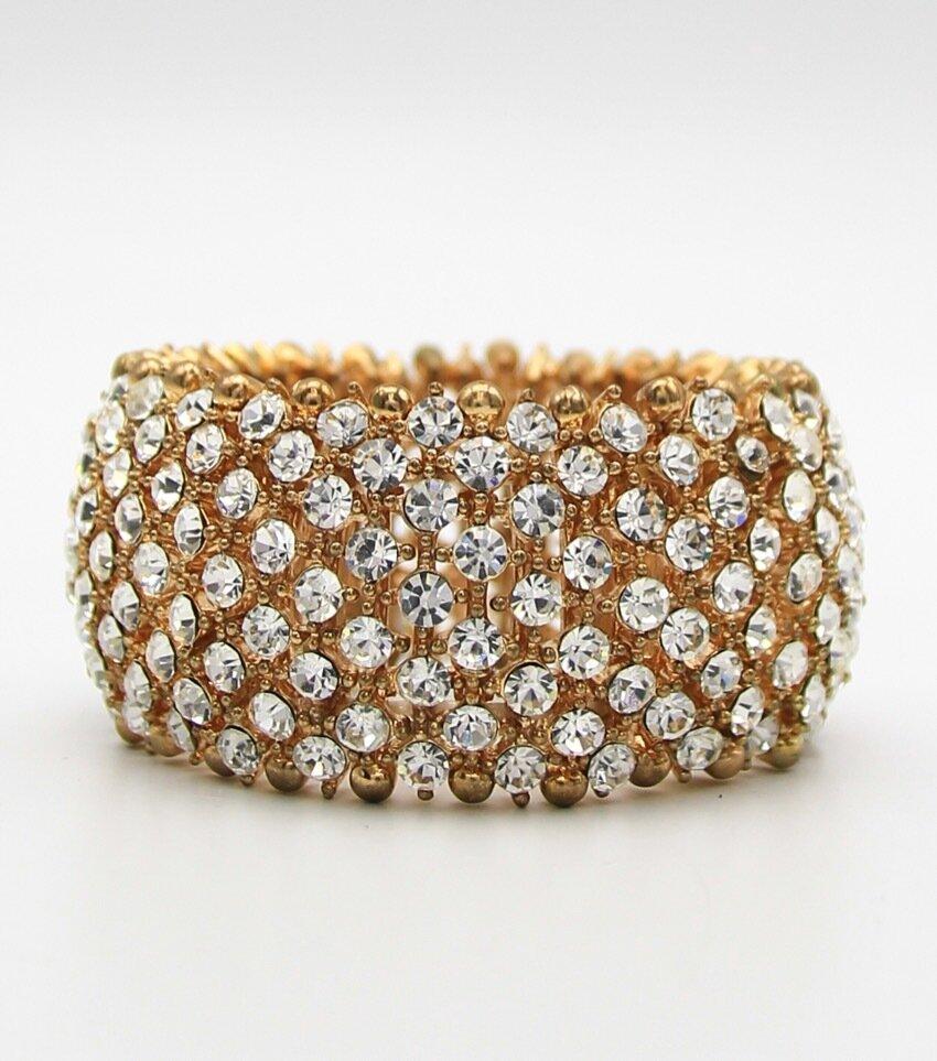 Crystal Pave Evening Stretch Bracelet