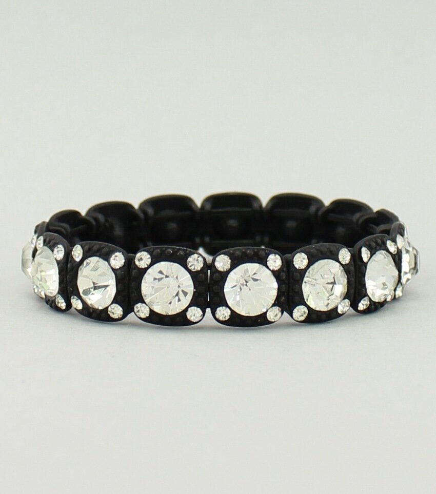 Crystal Blocks Stretch Bracelet