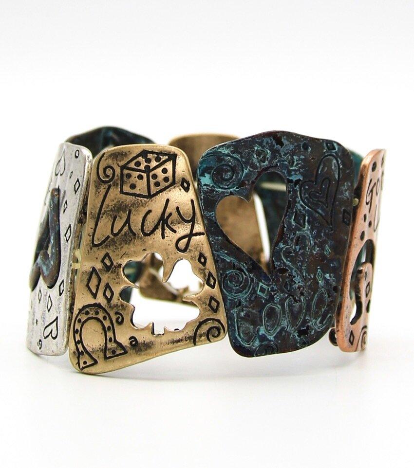 Metal Stretch Inspirational Heart Stretch Bracelet