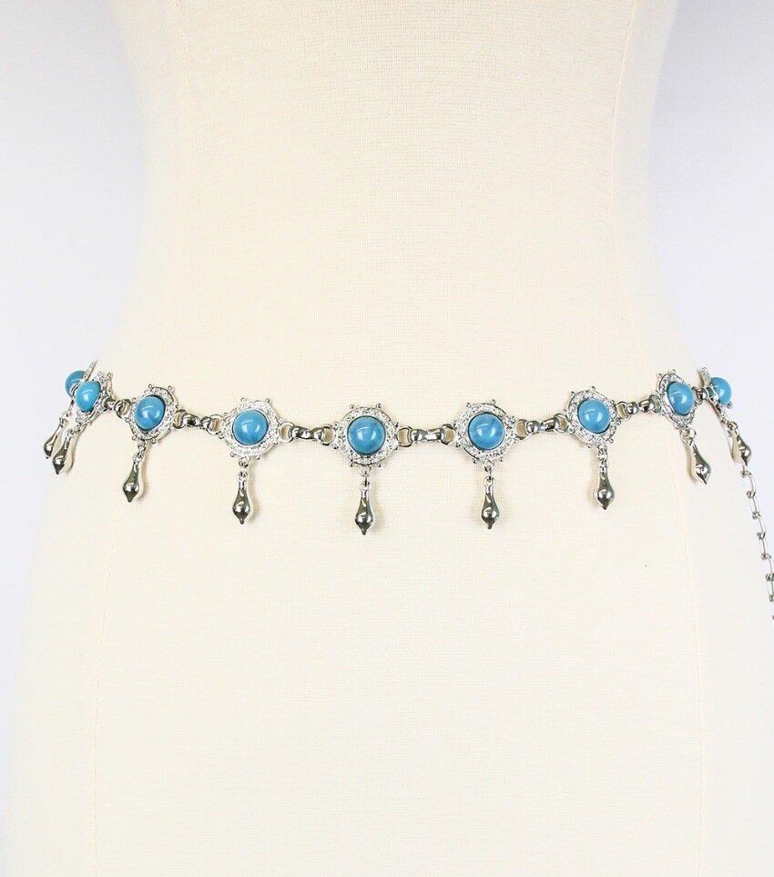Six-Pack Turquoise Stone Belt