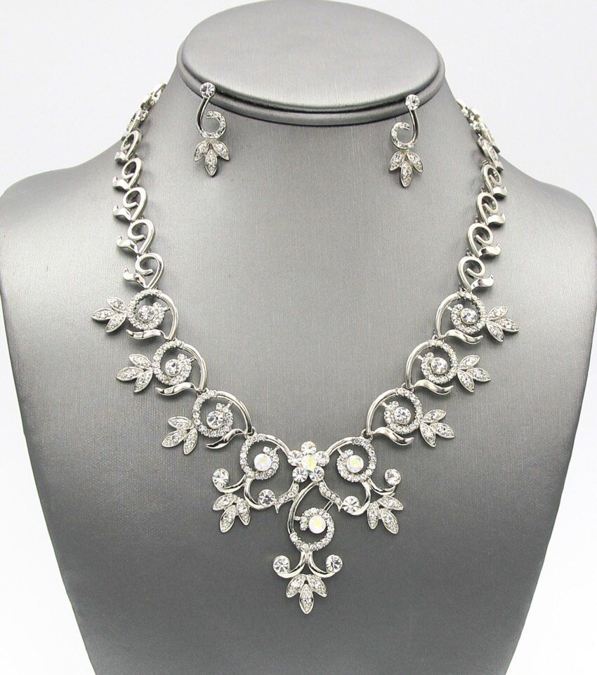Crystal Pave Elegant Necklace set