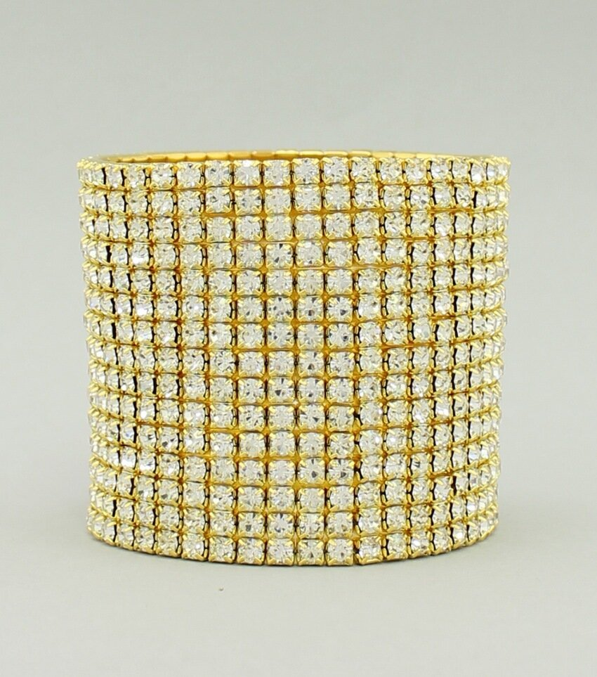 15-Row Crystal Stretch Bracelet