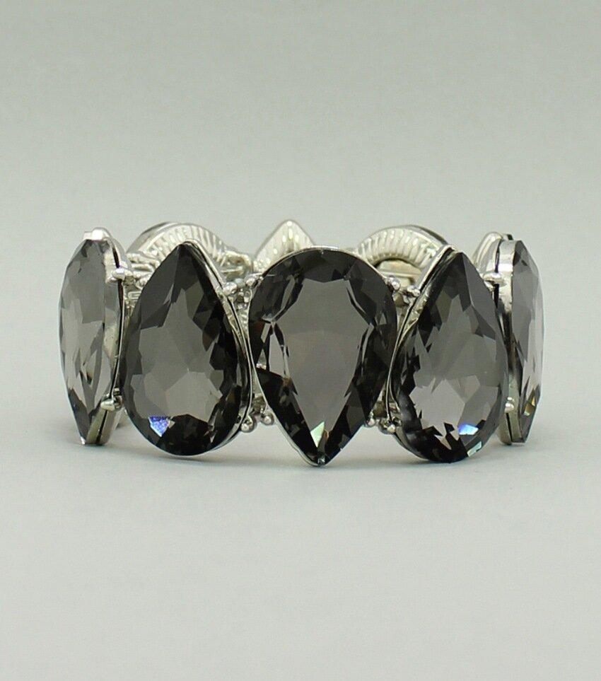 Crystal Teardrop Stretch Bracelet