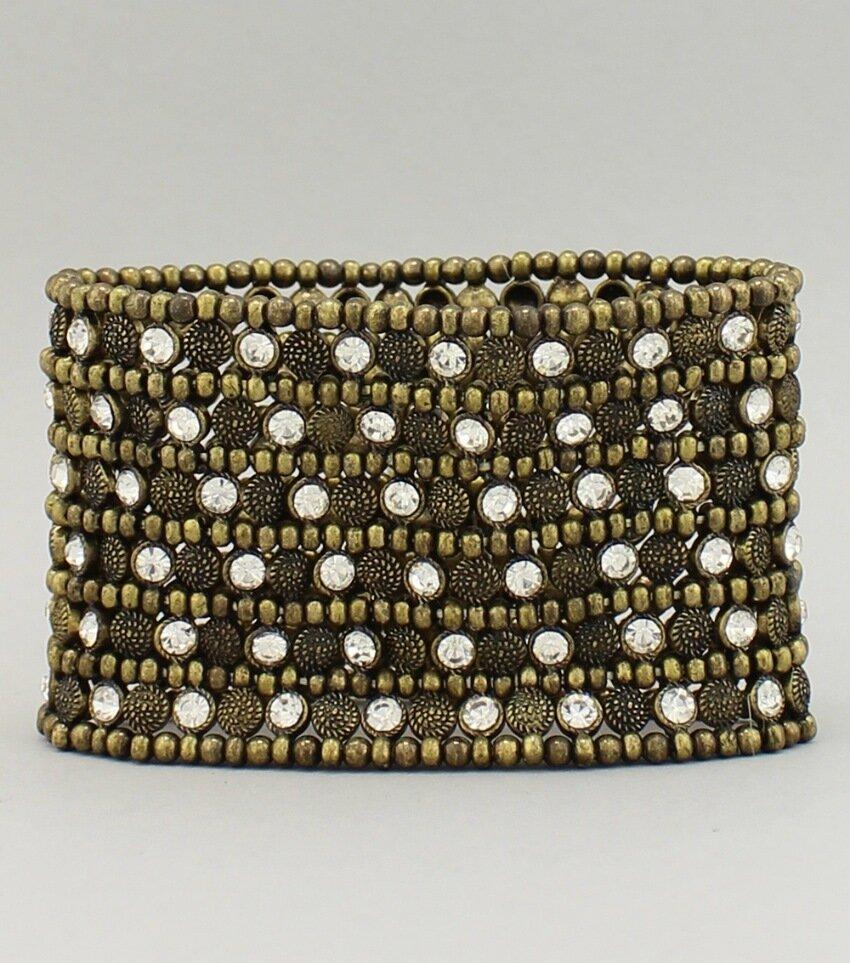 Beaded Rhinestone Stretch Bracelet