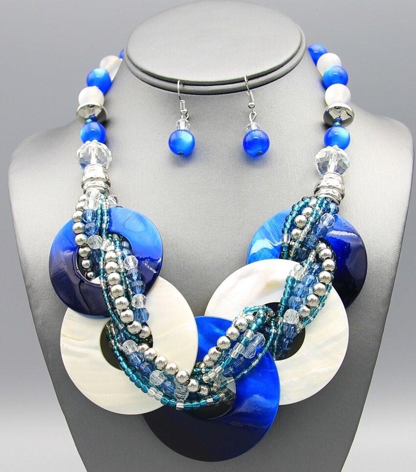 Shell Links Bib Necklace