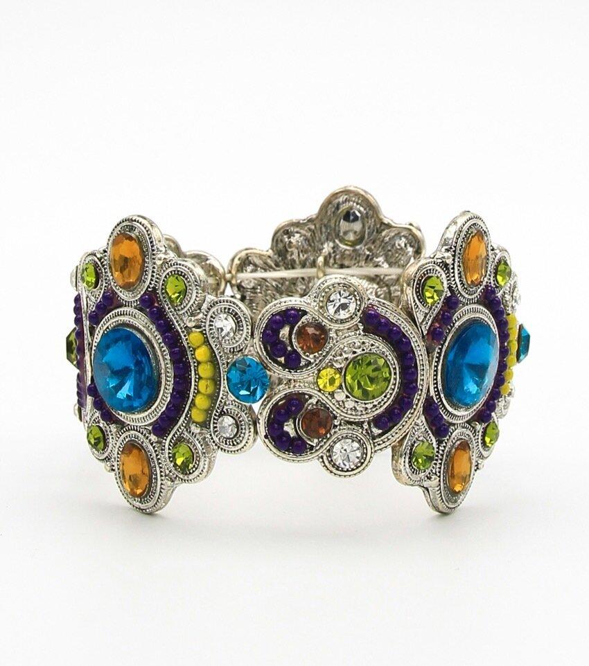 Crystal Pave Craft Stretch Bracelet