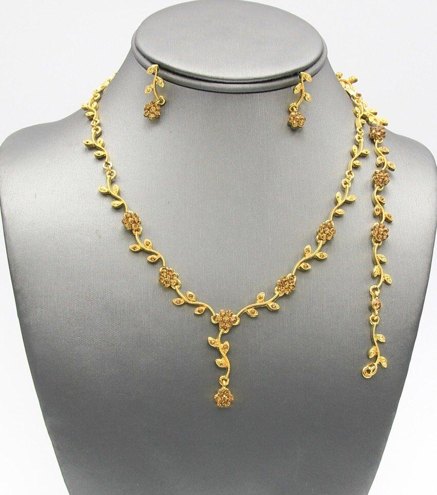 3-Piece Ivy Crystal Necklace