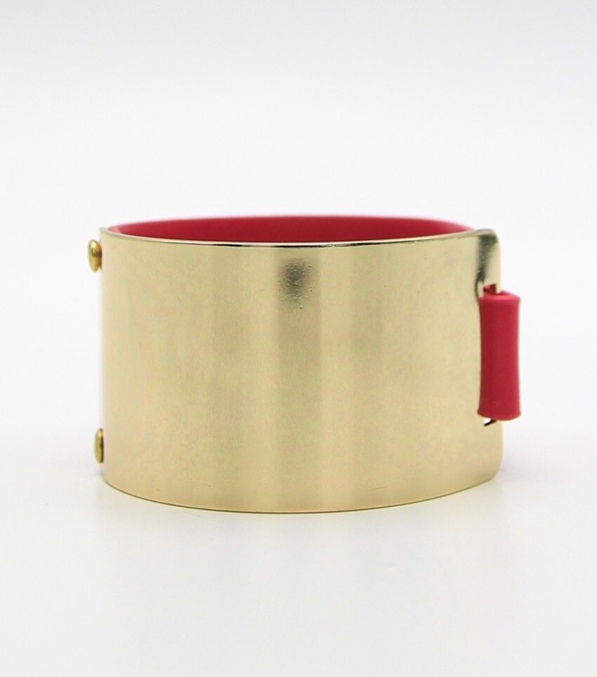 Faux Leather Bangle Bracelet