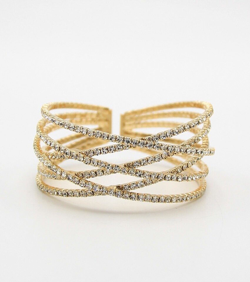 Rhinestone Cuff Bridal Bracelet