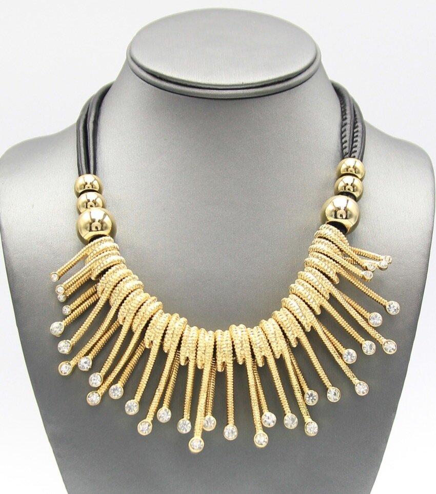 Crystal Pave Fringe Necklace