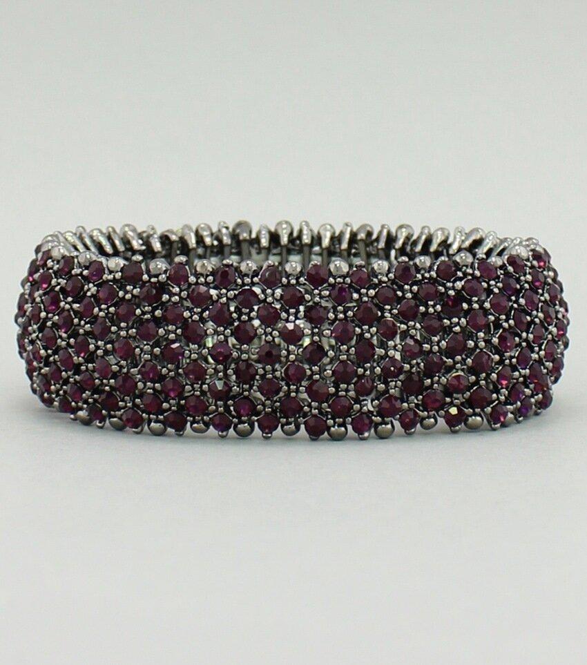 Purple Pave Crystal Stretch