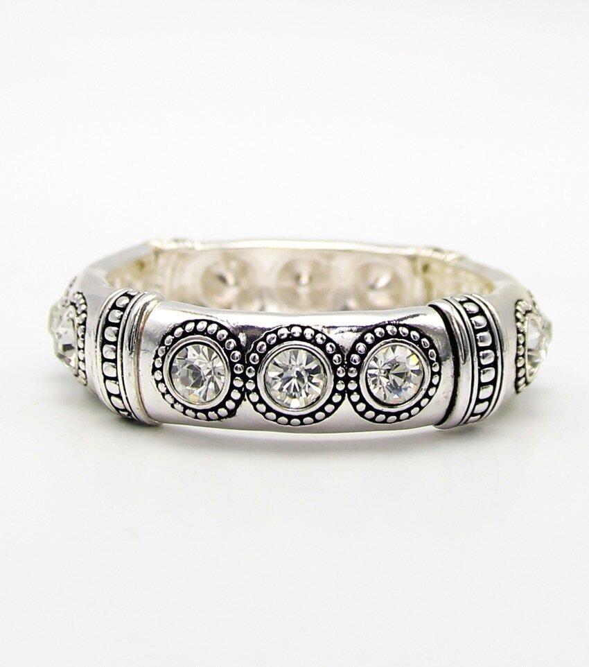 Crystal Stretch Bangle Bracelet