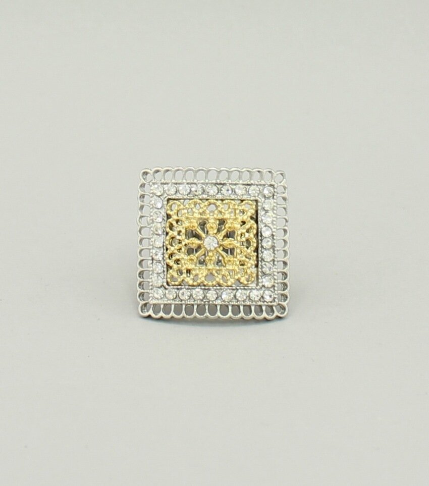 Filigree Square Stretch Ring