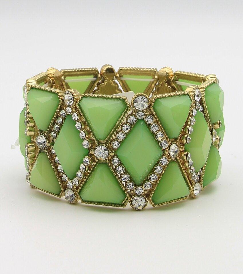 Diamond Cabochon Stretch Bracelet