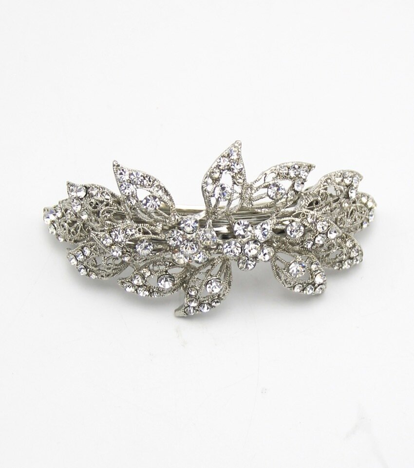 Crystal Pave Bridal Barrette