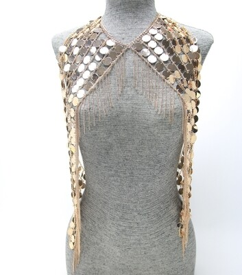 Rose Gold Metal Glamour Shimmer Body Chain