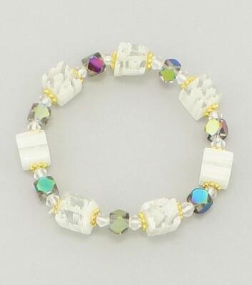 Murano Glass Beaded Stretch Bracelet