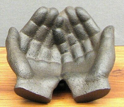 Cast Iron Pair of Hands Dish