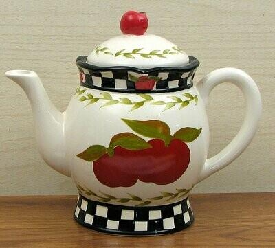 Ceramic Apple Teapot