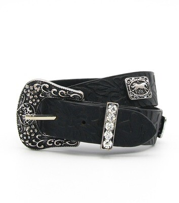Faux Leahet Buckle Belt Wrap Bracelet
