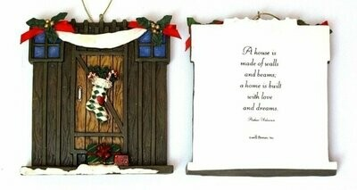 Roman Barn Door Ornament to Personalize