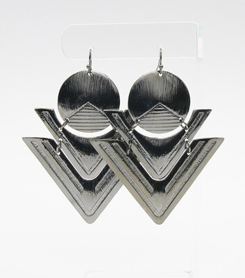 Statement Metal Geo Drop Earrings