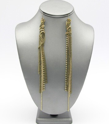 Long Multi Chain Knot Earrings