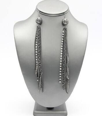 Long Metal Statement Earrings