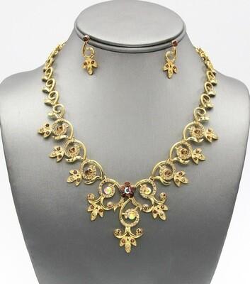 Crystal Pave Elegant Necklace set