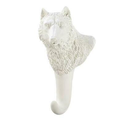 WHITE WOLF WALL HOOK