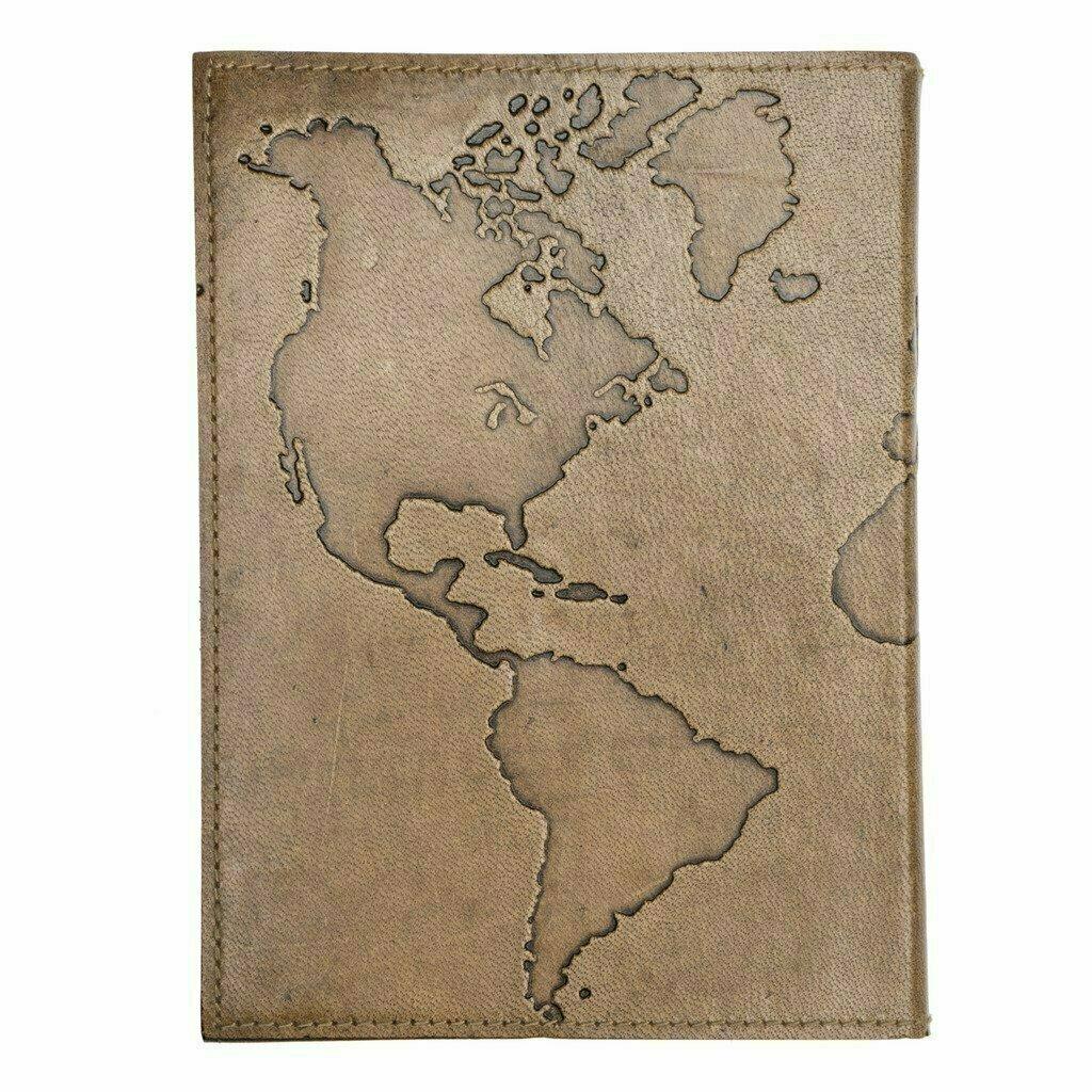 Ancient Globetrotter Leather Journal - Matr Boomie (J)