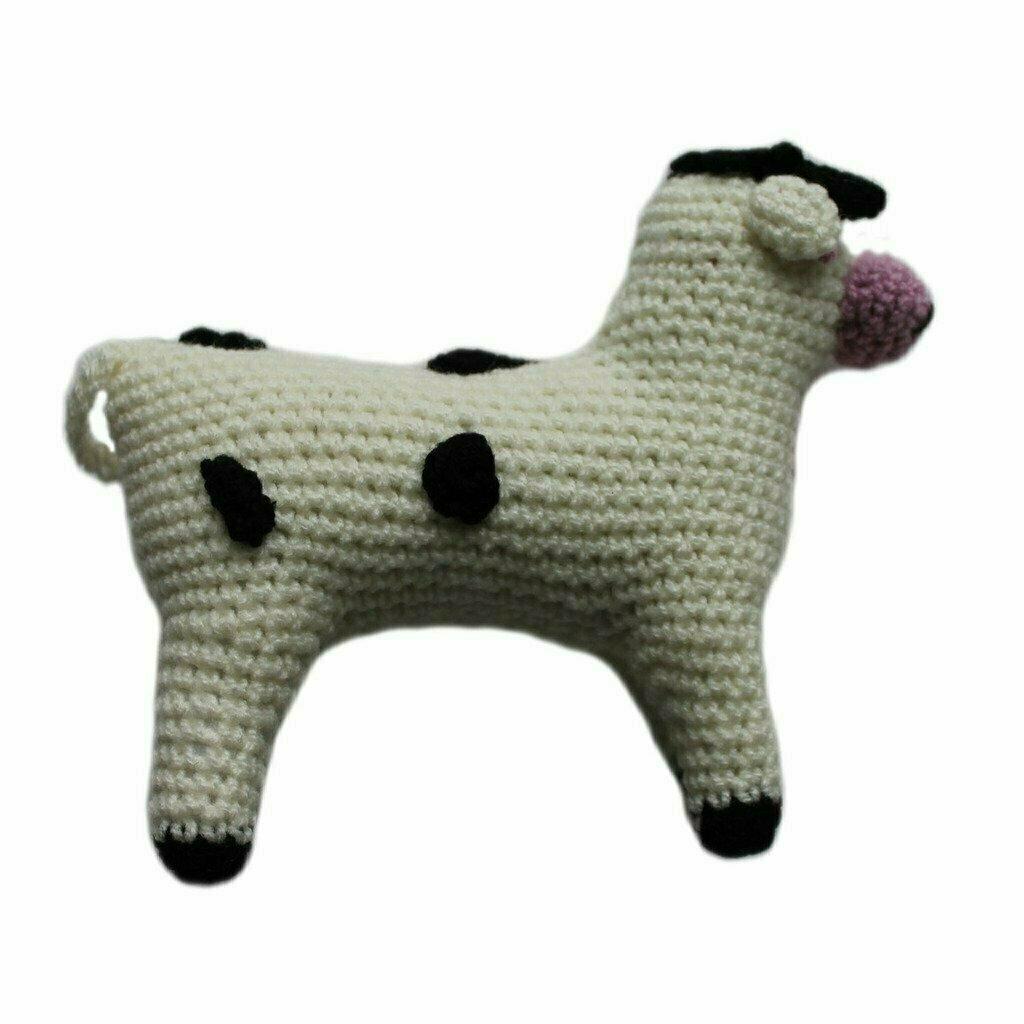 Knit Rattle Cow - Silk Road Bazaar