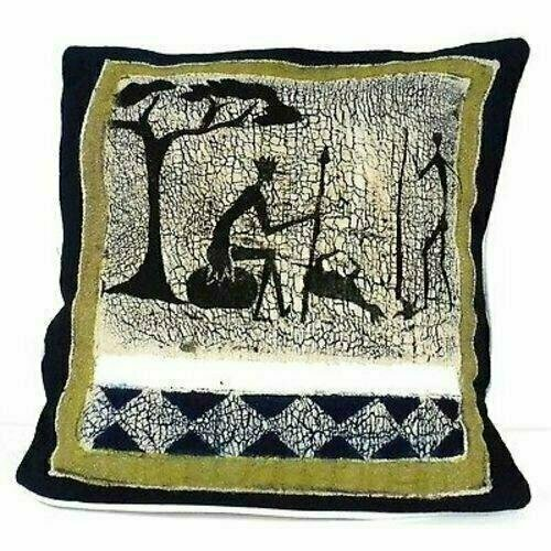 Handmade Hunting Batik Cushion Cover - Tonga Textiles