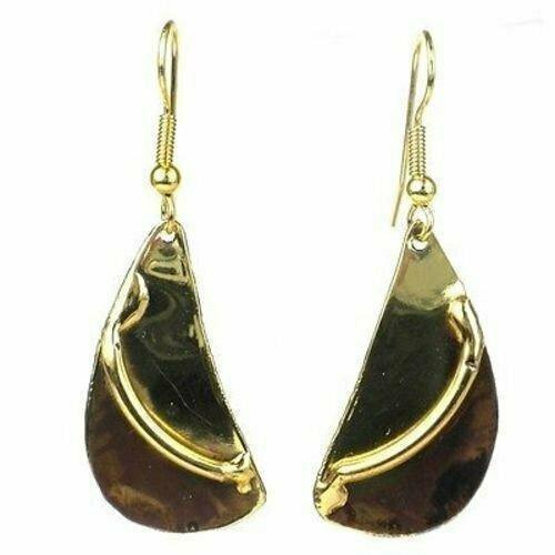 Brushstroke Brass Earrings - Brass Images (E)