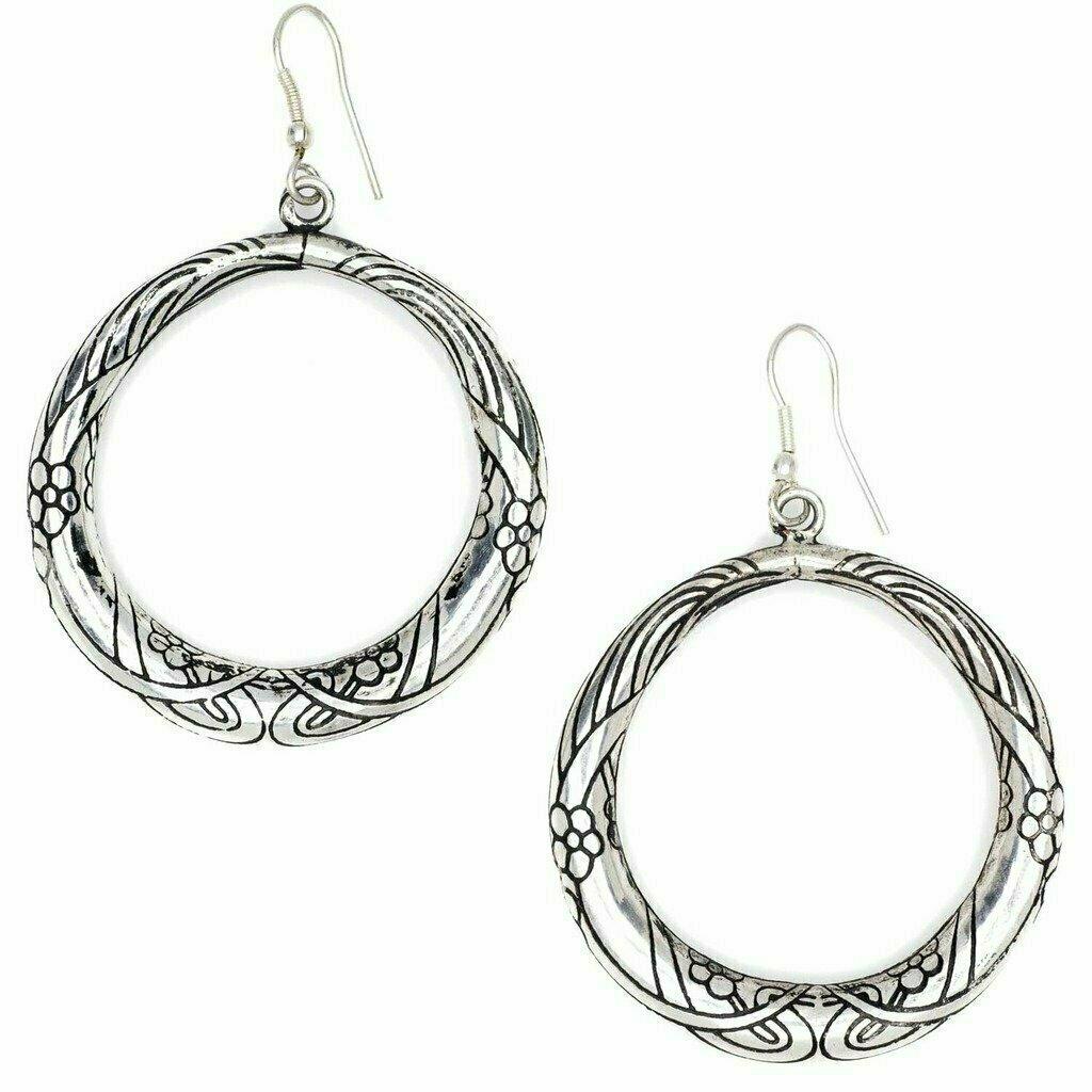 Selene Hoop Earrings - Silver - Matr Boomie (Jewelry)