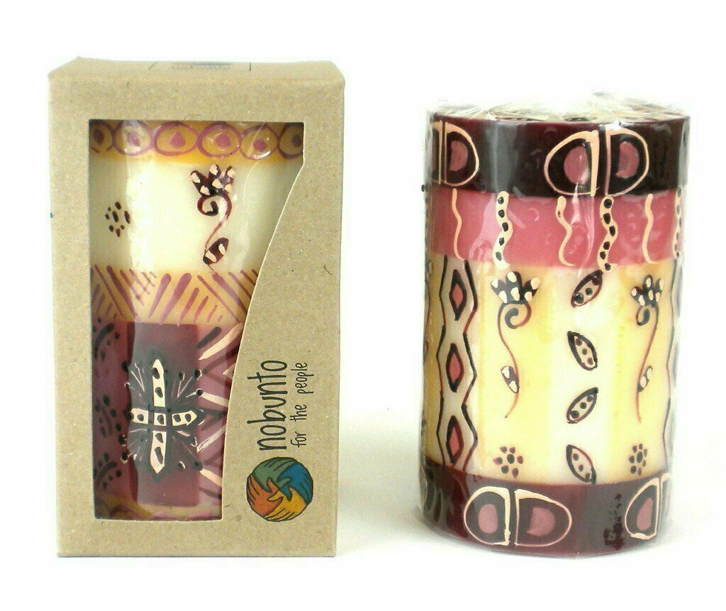 Hand Painted Candle - Single in Box - Halisi Design - Nobunto
