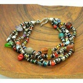 Beaded Multicolored 4 Strand Bracelet - Zakali Creations