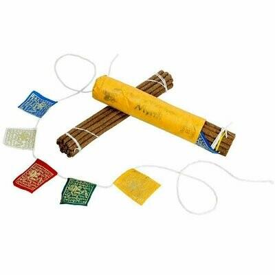 Prayer Flag and Incense Roll - Myrrh - DZI (Meditation)