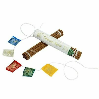 Prayer Flag and Incense Roll - Tibetan Spice - DZI (Meditation)