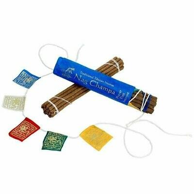 Prayer Flag and Incense Roll - Nag Champa - DZI (Meditation)