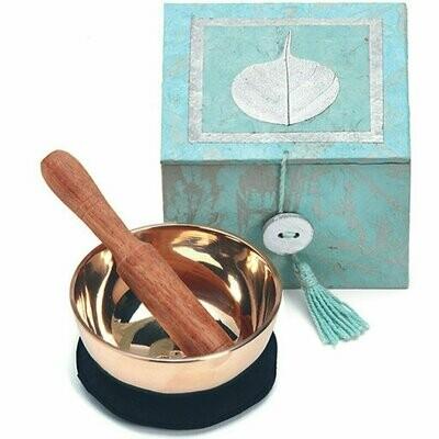 Meditation Bowl Box: 3'' Swirling Bodhi - DZI (Meditation)