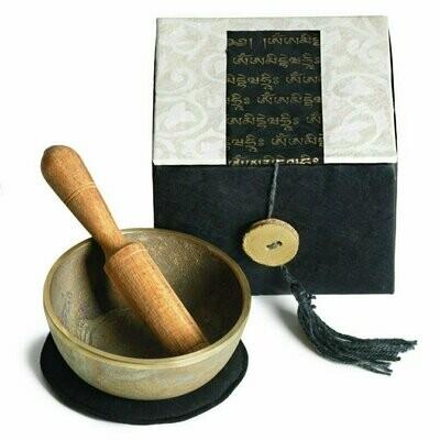Meditation Bowl Box: 3'' Om Mani - DZI (Meditation)