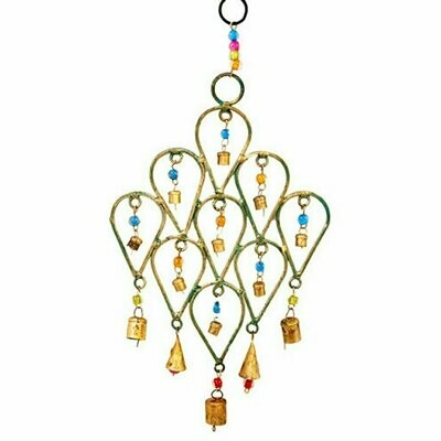 Beaded Chime Tear Drop Design - Mira (Bell)