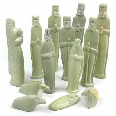 Soapstone Eight Inch Nativity Set - Handmade in Kenya