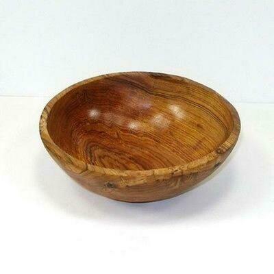 9-Inch Handcarved Olive Wood Bowl - Jedando Handicrafts