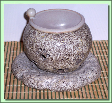 1259 Tea Incense Burner:  Stone