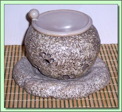 1259 Tea Incense Burner:  Stone