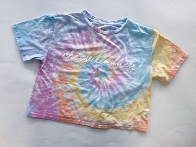 Tie Dye Crop Pastel - Choose Kindness