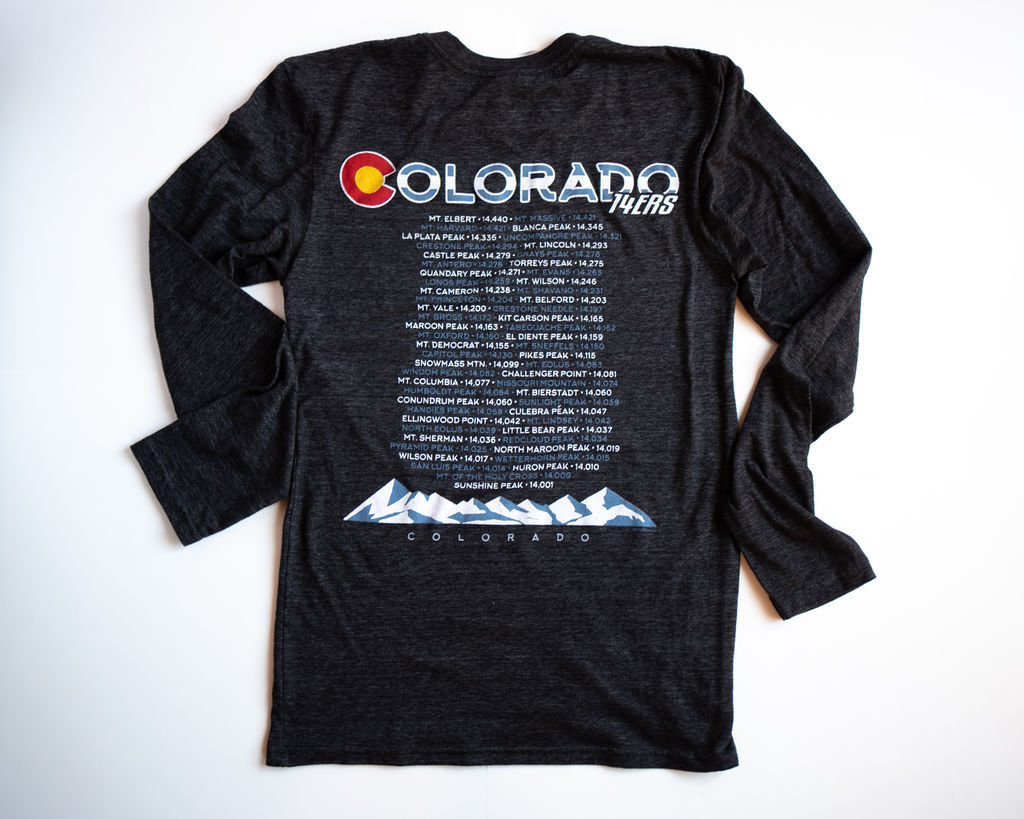 Colorado BACK - 14ers (Black) 00012
