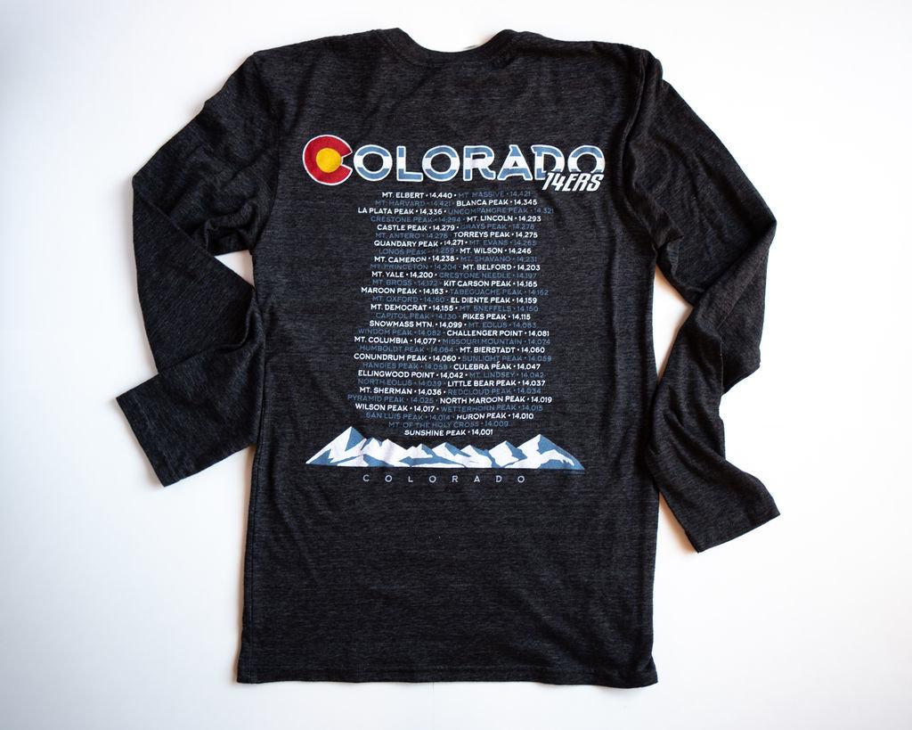 Colorado BACK - 14ers (Black) 00012